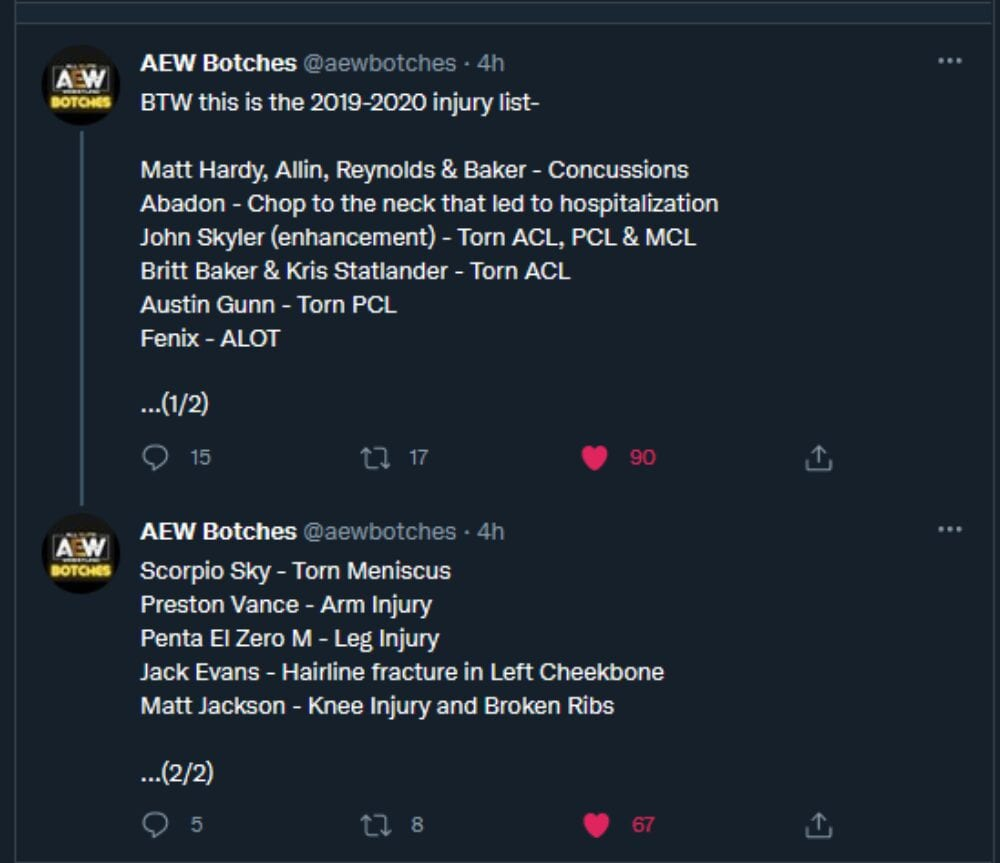 The Young Bucks, AEW, Matt Hardy