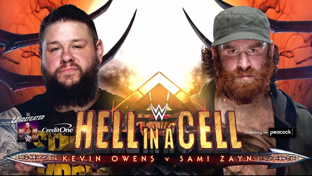 Hell in a Cell, WWE, Wrestling, Sami Zayn, Kevin Owens