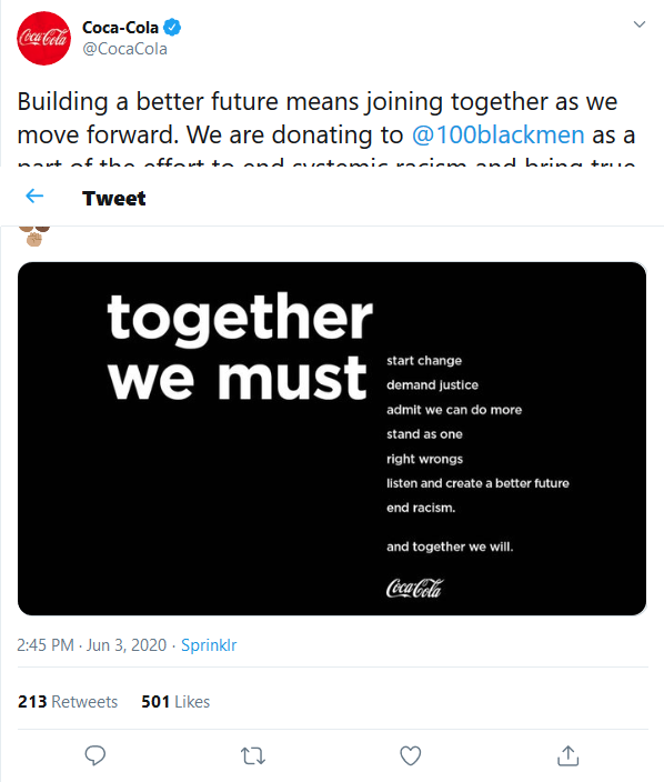Screenshot_2020-06-06 Coca-Cola on Twitter Building a better future means joining together as we move forward We are donati[...]